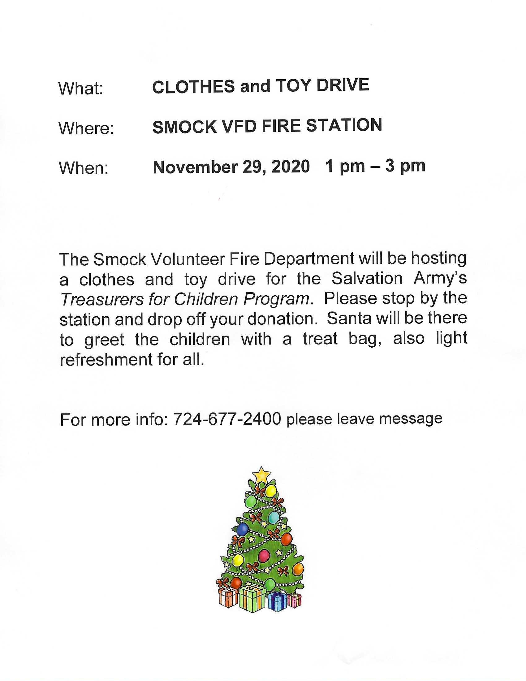 Clothes and Toy Drive 2020